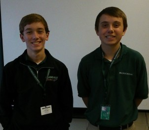 Vice President Nick Rosenbaum (Left) and President Bryce Miller (Right)