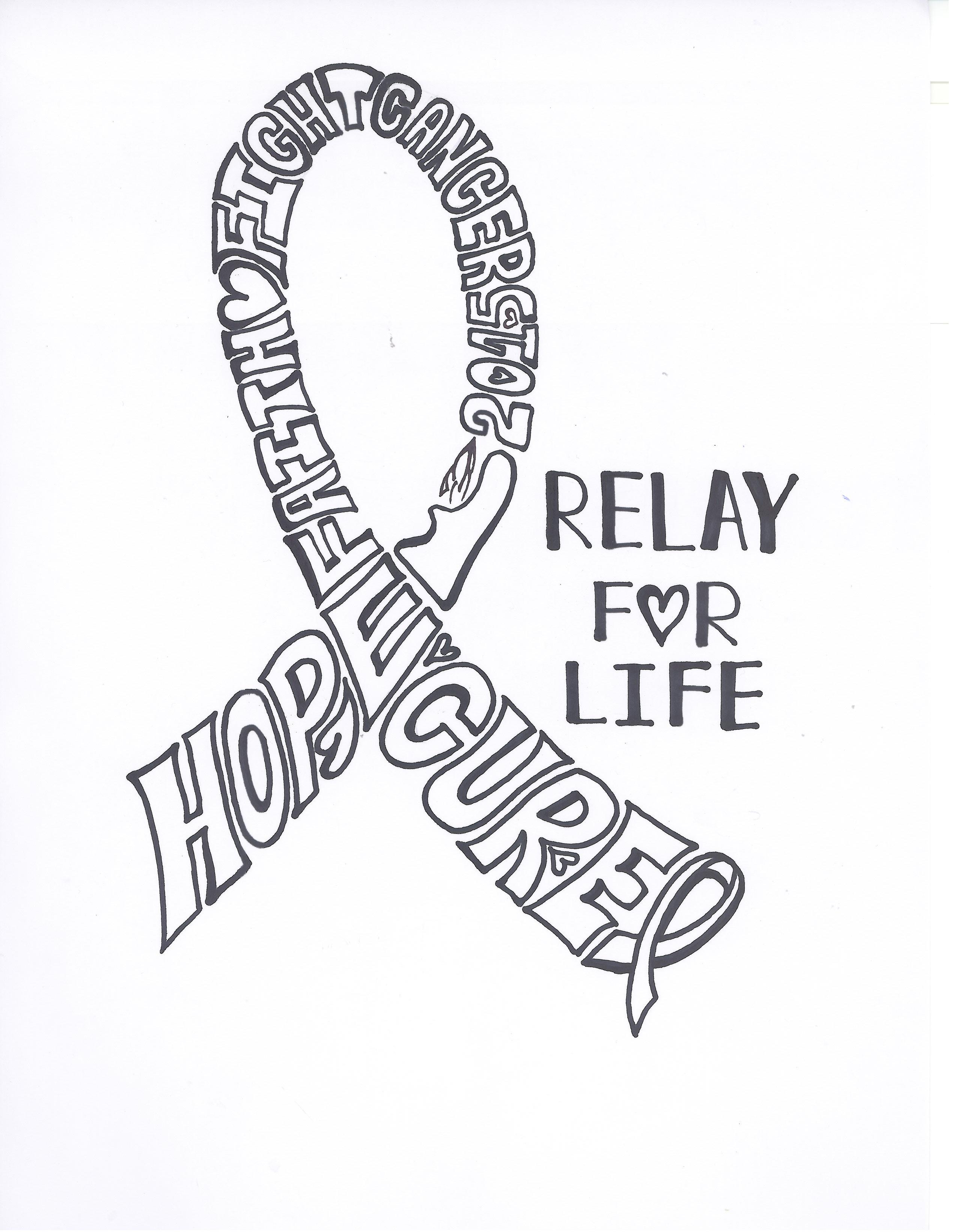 Relay for life team holds ribbons week fundraiser the for Relay for life t shirt designs
