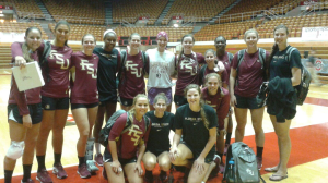 Adrian and her future teammates from Florida State