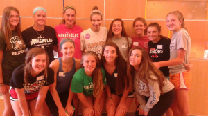 "Ell and the McNicholas women's volleyball team spend time together after finding out Adrian had cancer. ""The prayers from everyone mean a lot to me, as long as the kind words from people I barely know, it helps me to keep pushing through,"" Ell said."