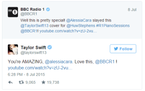 Alessia Cara is even Taylor Swift approved. Swift also praised Cara in an Instagram post, calling Cara's