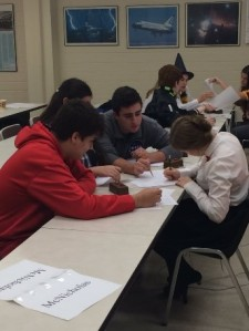 The Academic Team works together in the fall tournament to bring the team to a victory.